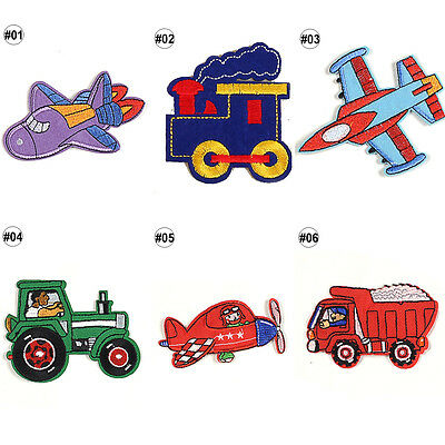 1/10PCS Embroidered Sew On Patches Cartoon Transfer Fabric Clothes Applique Trim