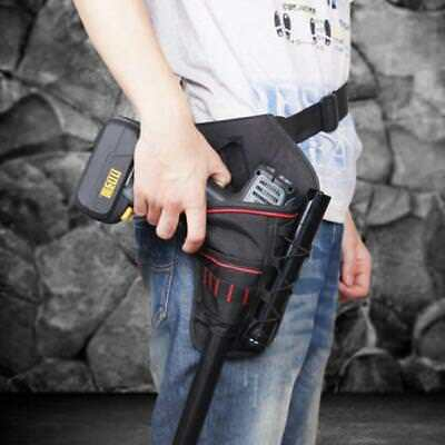 Portable Heavy-Duty Cordless Drill Holster Tool Belt Pouch w/Bit Holder Bag - CB