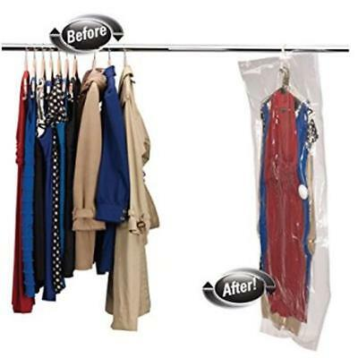 Large Big Vacuum Hanging Storage Space Saver Suit Dress Bags Clothes NEW - CB
