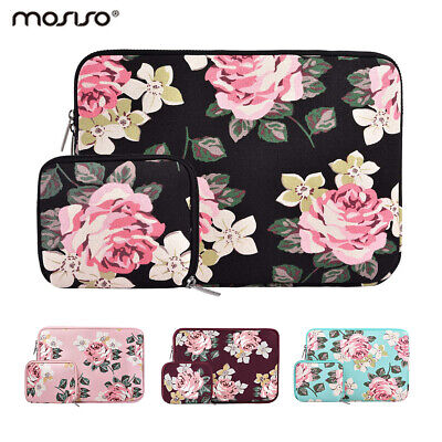 Mosiso Women Floral Laptop Sleeve Bag for Macbook Pro Air 13 Notebook 13.3 inch