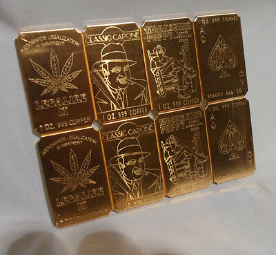 1 oz. Mixed Lot Random Pick 2017 Copper Cracker .999 Copper Bullion Bar Ingot