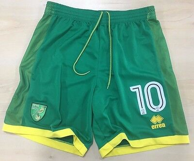 Official Norwich City Fc Player Worn Shorts 2016-17