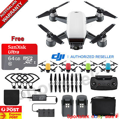 NEW DJI SPARK Fly More Combo 1080p 12MP 5 COLOURS + FREE SANDISK 32GB SD Card
