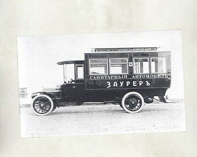 1912 ? Saurer Ambulance in Russia Truck ORIGINAL Factory Photograph wy1212