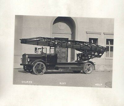 1934 ? Saurer Fire Truck ORIGINAL Factory Photograph wy1214