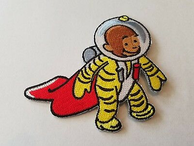 """CURIOUS GEORGE Space Monkey Iron On EMBROIDERED PATCH unused 3"""""""