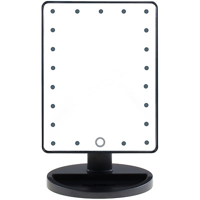 LED Light Up Illuminated Make Up Bathroom Mirror With Magnifier Green House