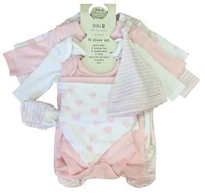 Baby Girls 10 Piece Set Mini-B Bhs Little Essentials Tiny Baby - 6 Months Bnwt