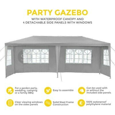 3M x 6M Garden Party Gazebo Tent Marquee Outdoor Party Awning Canopy 4 Sand Bag