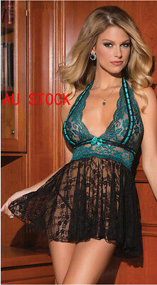 Black&Green Babydoll Chemise Nightwear Robes Plus Size Lingerie K179