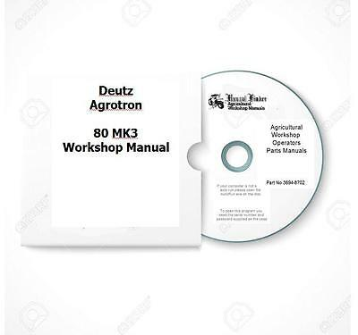 Deutz Agrotron 80 100 105 Workshop Manual  Digital