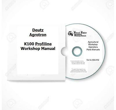Deutz Agrotron K90 K100 K110 K120 Profiline Workshop Manual Digital