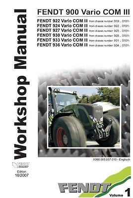Fendt Favorit 900 series Workshop Manual Printed