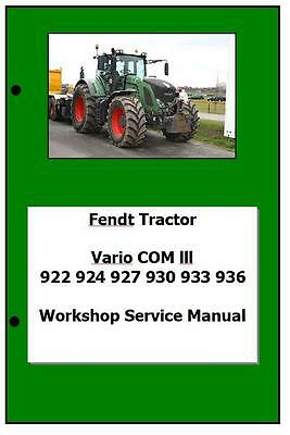 Fendt Vario Com3 922 924 927 930 933 936 Workshop Manual Printed