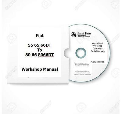Fiat 66 series incl DT 45 55 60 65 70 80 Workshop  Manual  Digital