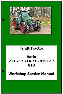 Fendt Vario Com3 711 to 818 Workshop Manual Printed