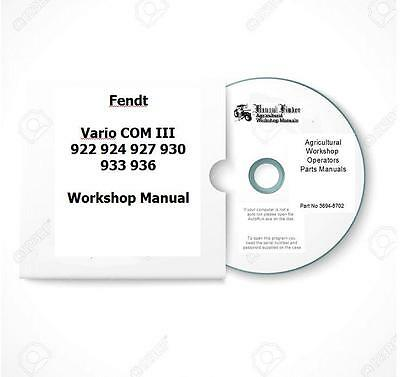 Fendt Vario Com3 922 924 927 930 933 936 Workshop Manual Digital