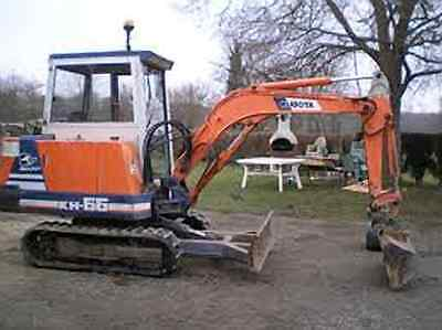 Kubota Excavator KH 41 Parts Manual Printed