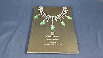 Christie's Auction Catalog Magnificent Jewels New York October 1994 Like New