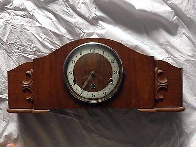Bentima Art Deco Mantle clock one hand missing, westminster chimes spares repair