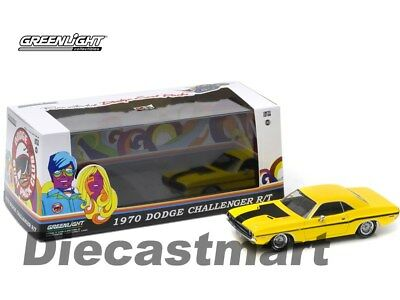 1970 Challenger R/t Run With Me The Dodge Scat Pack 1:43 Greenlight Yellow 86303