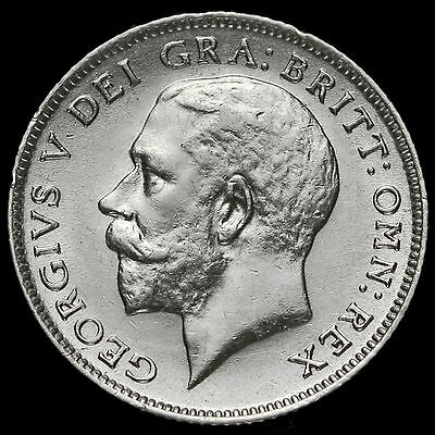 1913 George V Silver Sixpence, Scarce, EF