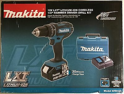 NEW ORIGINAL MAKITA LXT 18V Lithium-Ion 1/2in Cordless Hammer Driver Drill Kit