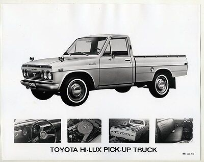 1971 Toyota Hi Lux Pickup Truck ORIGINAL Factory Photograph wy1867