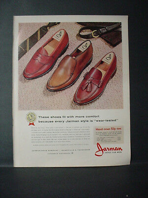 1964 Jarman Shoes for Men wear-tested Full Page Color Vintage Print Ad 11431