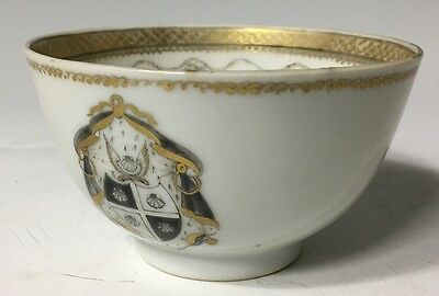 Antique (1750) Century Chinese Export Armorial TEACUP Shell Crest dish