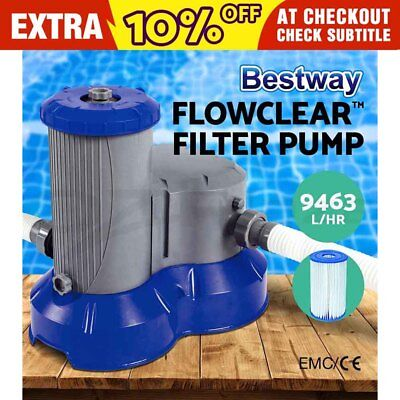 2500GPH Bestway Flowclear™ Filter Pump Filters Swimming Pool Cleaner 9463L/H