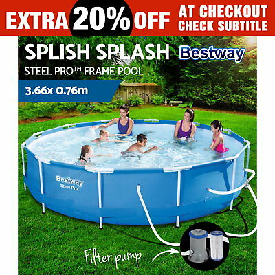 Bestway Steel Pro™ Frame Above Ground Swimming Pool Filter Pump 3.66m x 0.76m