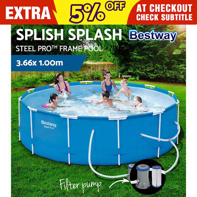 Bestway Steel Pro™ Frame Above Ground Swimming Pool Filter Pump 3.66m x 1m