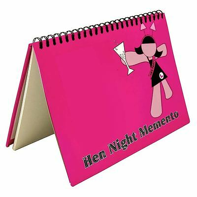 Hen Party Night Memento Comments Photos Memory Scrapbook Book Bride To Be Gift