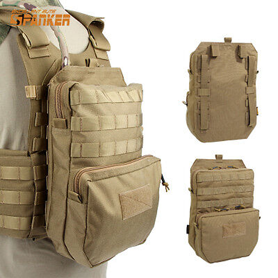 3L Molle Hydration Pouch Water Reservoir Pack Backpack for Tactical JPC Vest Tan