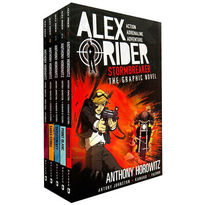 Alex Rider Collection By Anthony Horowitz 5 Books Set Graphic Novels Point Blanc