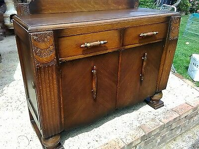 Beautiful old vintage / antique oak sideboard cabinet poss shabby chic project
