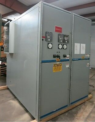 GE Power/Vac 2400V 1200-2000 Amp 3PH 3W Switchgear Breaker Cabinet PowerVac 2300