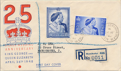 1948 Silver Wedding FDC Manchester CDS
