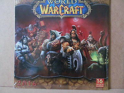 Official World of Warcraft Square Wall 2016 Calendar New & Sealed