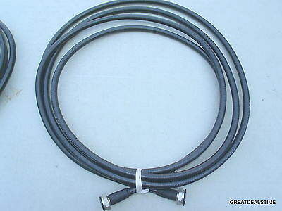 "1/2 inch HUBER+SUHNER RF Coaxial Cable / 20' W/ CONNECTOR ENDS 1/2"" WIRE #"