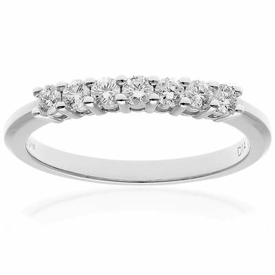 Revoni Real Round Natural Diamond Eternity Ring Solid 18ct White Gold