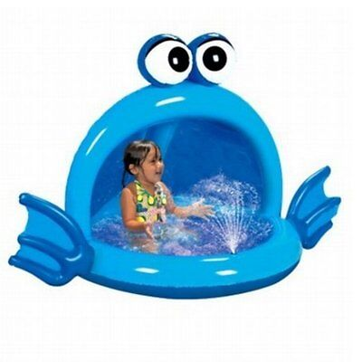 New Original Banzai Playful Puffer Fish Spray Pool Inflatable Canopy Ages 2+