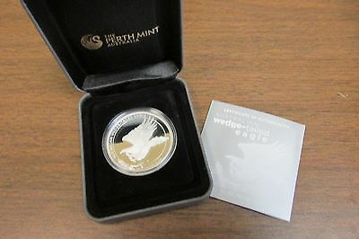 2014 Silver Proof Wedge Tailed Eagle Mercanti designed with OGP & COA