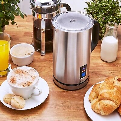 Heska Electric Milk Frother - Large 500ml Capacity - Stainless Steel Premium