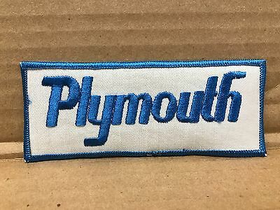 """Vintage Original Embroidered Plymouth Jacket Patch 5"""" X 2"""""""