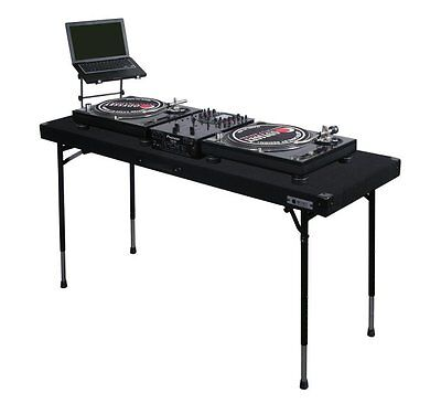 ODYSSEY CTBC2060 Carpeted Portable Pro DJ Work Table w/ Adjustable Folding Legs