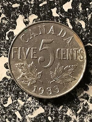 1933 Canada 5 Cents Lot#5896