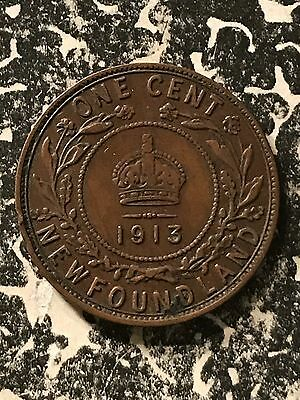 1913 Newfoundland 1 Cent Lot#6003