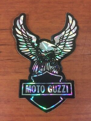 Vintage Antique Motorcycle Collectable 1970's Moto Guzzi Biker Eagle Sticker